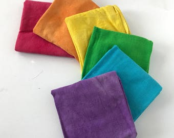 Burp Cloths, Hand Dyed, Organic Cotton, Cloth Diapers
