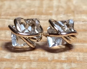 Herkimer Diamond Stud, Herkimer Diamond Studs, Herkimer Diamond Earrings, Herkimer Earrings, Herkimer Studs, Stud Earrings, Gifts for Her