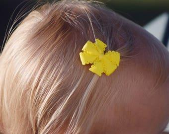 Millie - Small Bow - Infant Bow - Baby Bow - Newborn Hair Bow - Mini Baby Bows - Small Hair Bows - Tiny Bows  - Preemie Bows - Baby Headband