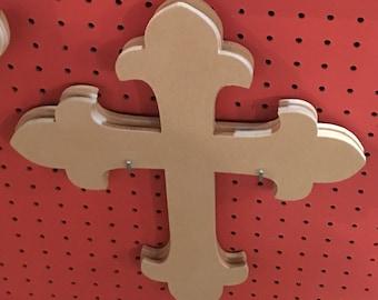 "16"" Unfinished Wood Cross"