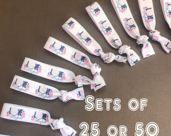 Sets of 25 or 50 Volleyball hair ties