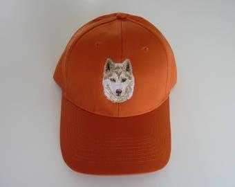 Siberian Husky embroidered cap