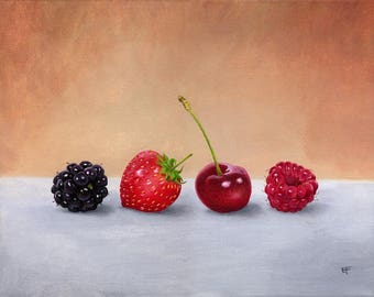 Four red berries