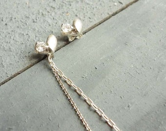 earrings, heart,925 silver stealing,cz, for wedding,gift for her