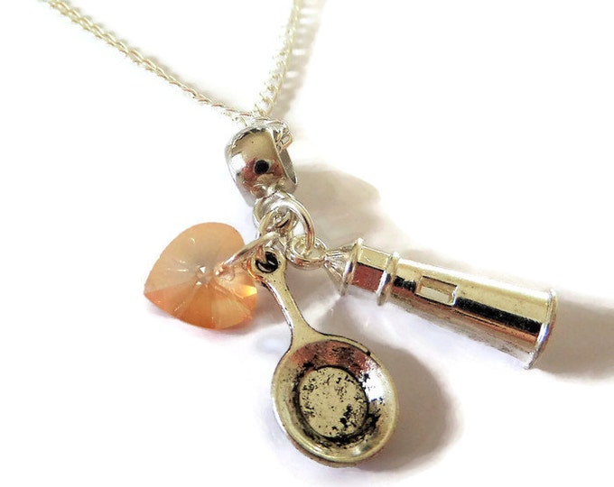 TANGLED RAPUNZEL Princess inspired silver charm necklace xmas Uk princess gift jewellery Uk