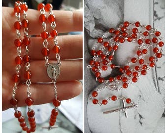 Carnelion Rosary Beads