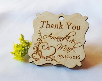 Wedding tags-Wedding favor-Wedding favor tags-Gift tags-Wedding favor rustic-Gift tags-Wedding tags-Custom-Custom tags-Wooden tags-Thank you
