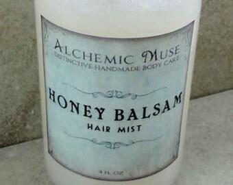 Honey Balsam - Hair Mist - Detangler & Styling Primer - Honey Citrus, Toffee, Frankincense, Myrrh