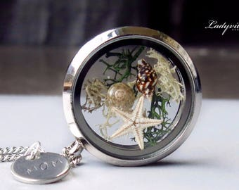 Personalized Locket with Shells