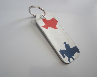 Red Texas License Tag Keychain