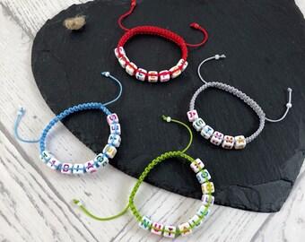 Medical Alert Bracelet, Medical ID Bracelet, Allergy Bracelet, Personalised Bracelet, Macrame Jewellery, Diabetic Bracelet, Epilepsy Band