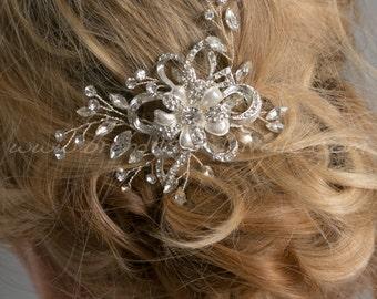 Rhinestone Wedding Comb, Crystal Bridal Hair Comb, Wedding Hair Accessory - Danae