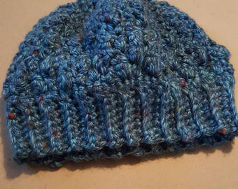 Winter hat - dark blues