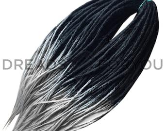 Yin Yang Crochet Synthetic Dreads x20 or Full Set Single or Double Ended Dreadlocks DreadsForYou