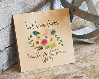 Personalized FUN SIZE Floral Bridal Shower Flower Seed Packet Favors Sow in Love Wildflower Seeds Wedding Favors Rehearsal Dinner Thank You