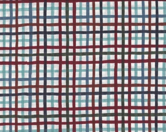 Dancing Plaid, 100% Cotton Fabric, Sold by Half Yard (19921)