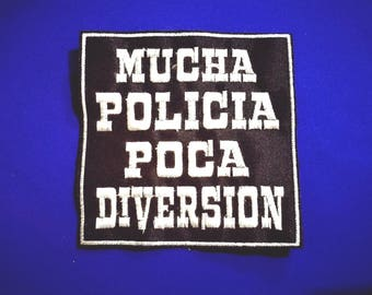 Embroidered patches in thread 10cm eskorbuto a lot of police little fun color to choose