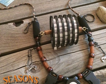 "Fly Fishing Lanyard ""Seasons"" on a Fly by Golden Trout Lanyards"