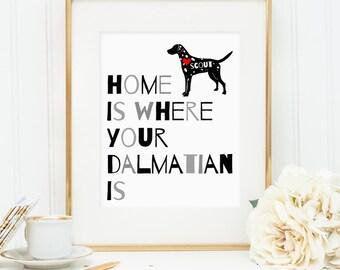 Dalmatian print, dalmatian dog print, personalized dog art print for your dalmatian, dalmatian dog wall art, custom gift for dog owners