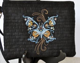 Steampunk Butterfly Wristlet