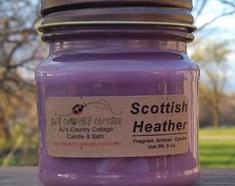 SCOTTISH HEATHER CANDLE - Heather Candles, Flower Candles, Floral Candles, Spring Candles, Scented Candles, Mason Jar Candles