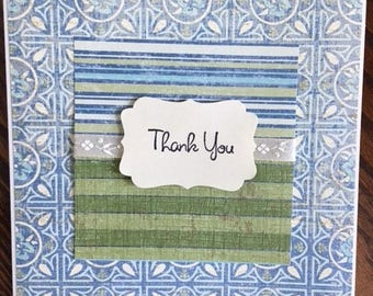 Handmade Greeting Card- Thank You Greeting Card