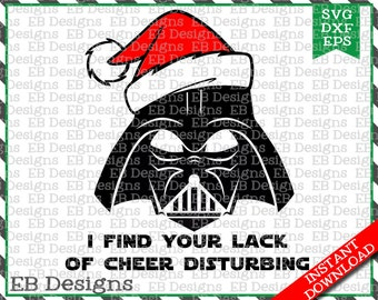 Vader Christmas Cut File (SVG, EPS and DXF)