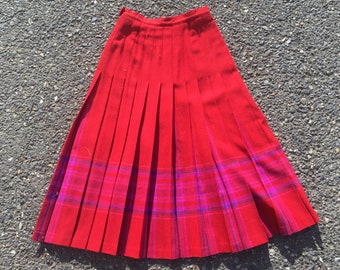 XS Pendleton wool skirt
