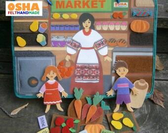 Farm busy book Pretend play 2 dolls Toddler toy Travel quiet book Quiet book pages Felt toy Travel toy Felt book Toddler book Activity book