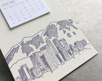 Denver Cityscape Postcard Calendar