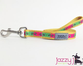 Pink and Lime Green Bumble Bee Dog Leash Lead