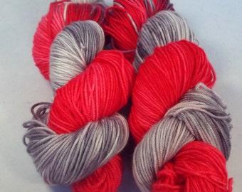 Werecats on Octosport  SW Merino Hand dyed Sport weight  yarn