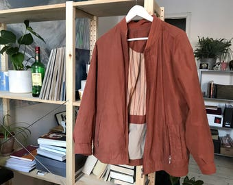 90s Terracotta brown bomber jacket – Size M/L
