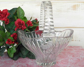 Princess House Basket - Heritage Romance Collection - Lead Crystal Basket