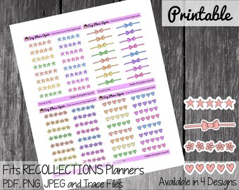 Dividers Everywhere (pastels), Functional Printable Stickers, Planner Stickers, Planner Printable