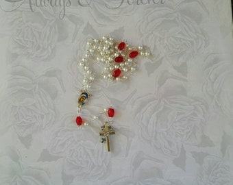 5 Decade Rosary Handmade Catholic Rosary  unique Rosary baptism gifts#designer rosary prayer beads 1 of kind Rosary