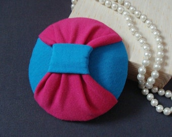 fascinator turquoise and pink