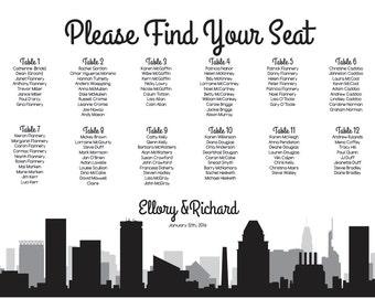 Baltimore Seating Chart Printable Digital Design PDF Custom Personal Poster Print File ONLY Seat Map