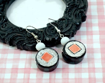 KEEP CALM and Eat SUSHI - Japanese Sushi Charm Earrings