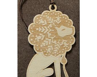 """Wooden bookmark zodiac """"Leo"""""""