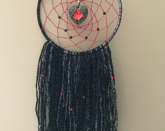 Red and Black angel wing Dream Catcher