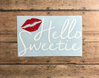 hello sweetie / decal / river song / doctor who / bad wolf / tardis / timelord / tenth doctor / eleventh doctor / twelfth doctor