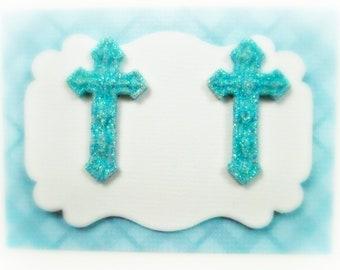 Easter Cross Earrings, Religious Jewelry, Catholic Women's Earrings Ladies Earrings Jewelry Button Post Stud Earrings