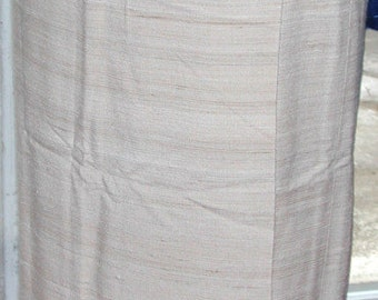 No. 500 Vintage Unfinished Silk Tussah Wrap Skirt, Approximate Size 10;  Pristine and Unused