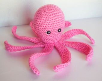 Personalized Amigurumi Crochet Octopus / Plush Crochet Octopus / Octopus Stuffed Animal