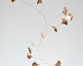 Free Shipping on Copper Mobile Handmade Copper Mobile w Ginkgo Leaves