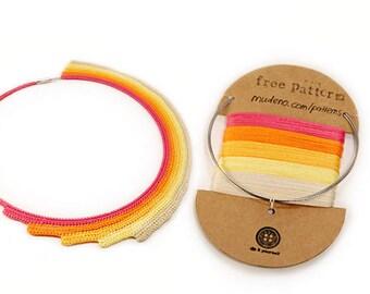 DIY jewelry Kit, DIY necklace, diy necklace kit, diy gift, crochet kit, crochet supplies, jewelry making kit, diy craft kit, MudenoMade