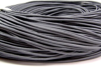 For jewelry grey diameter 2 mm 1 meter length leather cord