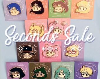 Seconds Sale - Sailor Senshi Hard Enamel Pins