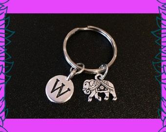 Elephant keychain, holiday charm key ring, holiday gift, elephant gift, UK